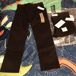 Old Navy Black Boy's Skinny Uniform Pants 7 Slim